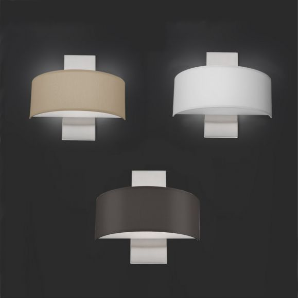 LED-Wandleuchte Gea mit Chintz-Schirm in 3 Ausführungen