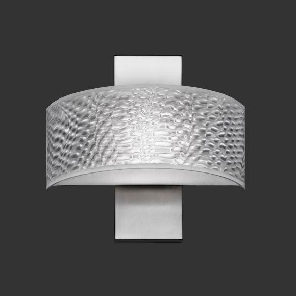 LED-Wandleuchte Gea Nickel-matt mit 3D-Folie