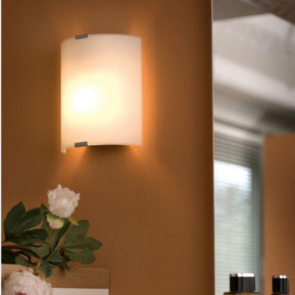 LED-Wandleuchte Grafik , Glas weiss, 2 Größen