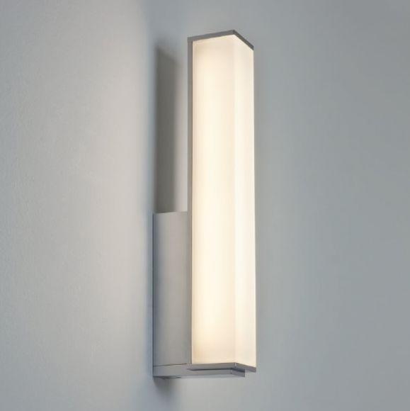 LED-Wandleuchte Karla Chrom, 32,9 cm