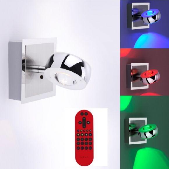 LED-Wandleuchte Lola Opti mit RGB und CCT und Fernbedienung