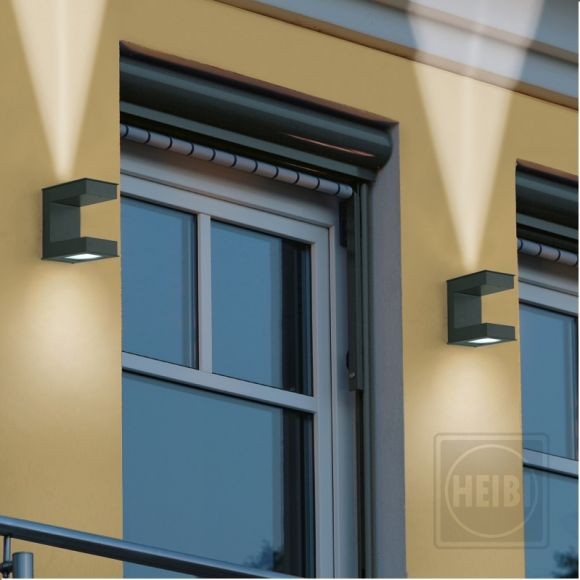 LED-Wandleuchte mit up & down Lichteffekt - mit neutralweißer LED, 4000K LED neutralweiß