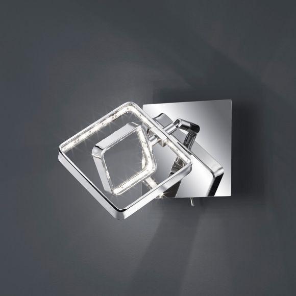 LED-Wandleuchte mit eckigem Leuchtschirm, 1x 4,5W LED