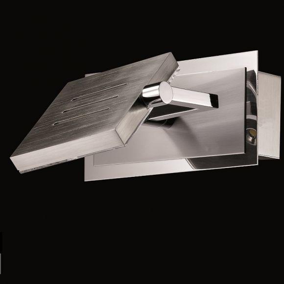 led wandleuchte in nickel matt blank schwenkbar wohnlicht. Black Bedroom Furniture Sets. Home Design Ideas