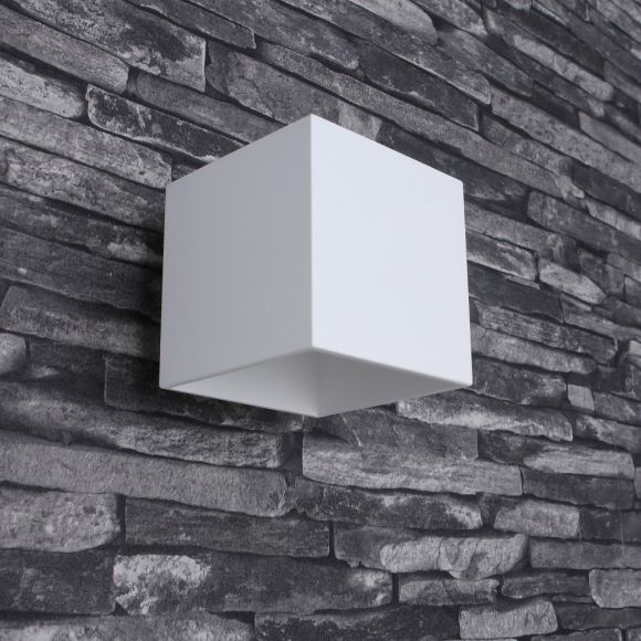 LED-Wandleuchte Quad 1 Aluminium weiß