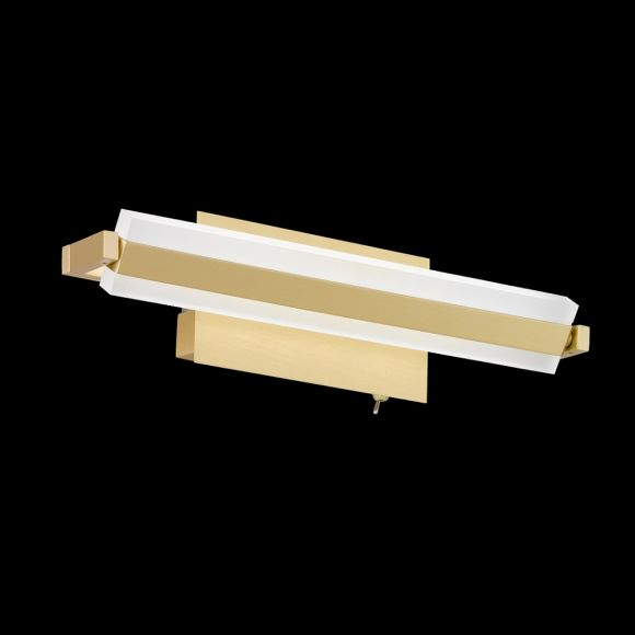 LED-Wandleuchte Turn, Messing-matt, 35 cm
