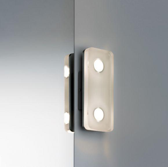 LED-Wandleuchte, eckig aus rostfreiem Material, IP44-Schutz, inklusive 9Watt  LED, 3000 K warmweiß