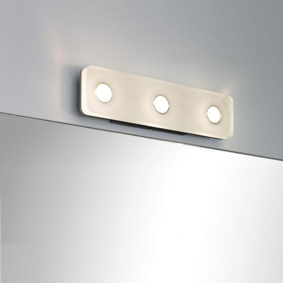 LED-Wandleuchte, eckig aus rostfreiem Material, IP44-Schutz, inklusive 13,5 Watt  LED, 3000 K warmweiß