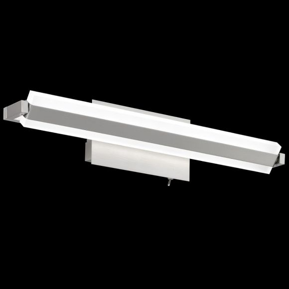 LED-Wandleuchte, Metall Nickel-matt, drehbar schwenkbar, 46 cm lang