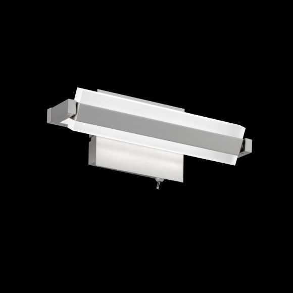 LED-Wandleuchte, Nickelmatt, schwenkbar, 25 cm lang