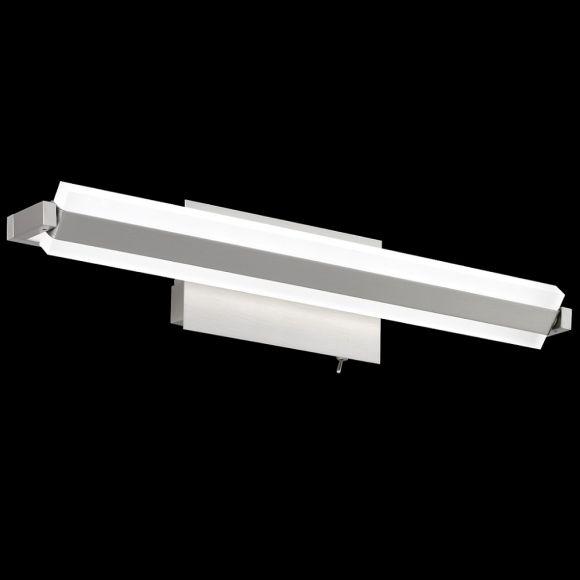 LED-Wandleuchte, Nickelmatt, schwenkbar, 46 cm lang