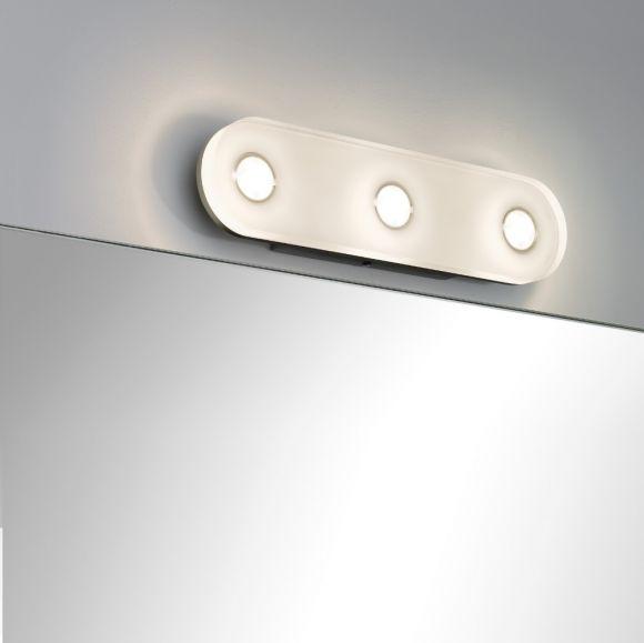 LED-Wandleuchte, oval aus rostfreiem Material, IP44-Schutz, inklusive 13,5 Watt  LED, 3000 K warmweiß