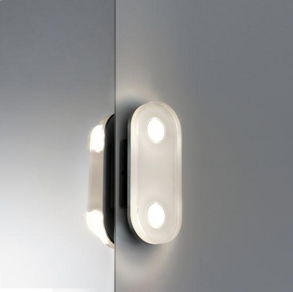 LED-Wandleuchte, oval aus rostfreiem Material, IP44-Schutz, inklusive 9 Watt  LED, 3000 K warmweiß