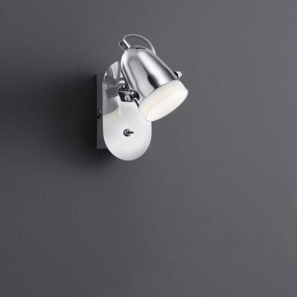 LED-Wandstrahler 1-flg Chrom - inkl 1x 4,5 Watt LED
