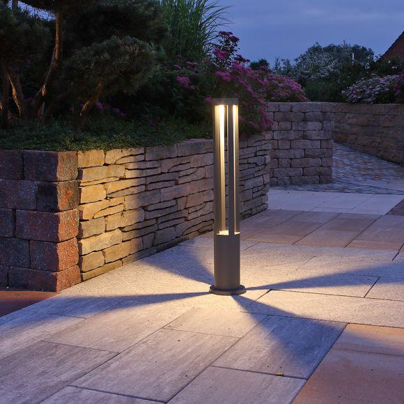 LED-Wegeleuchte 10W in grau + Gratis Spannungsprüfer