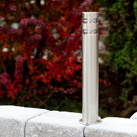 LED-Wegeleuchte in Edelstahl, 24 LED á 0,12W