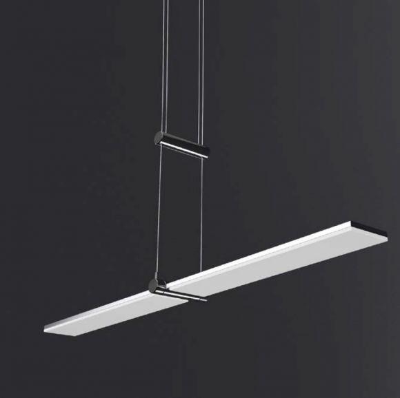 LHG LED-Zugpendelleuchte verstellbar - in Chrom - Arcyl weiß