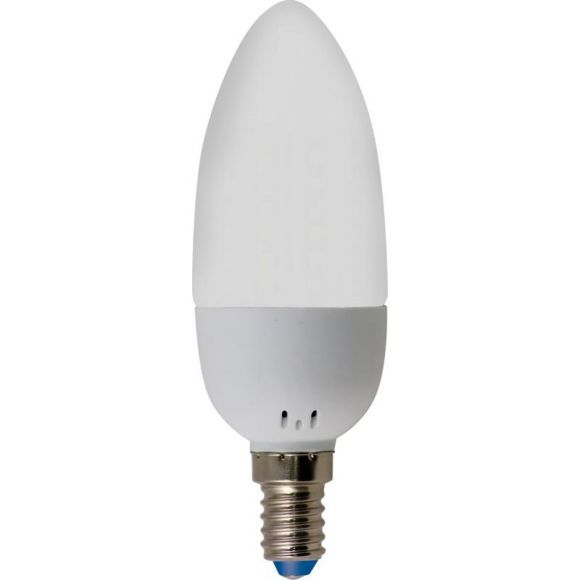 Leuchtmittel Heitronic C35 Kerze, LED, 3 Watt, opal, E14, 240 Lumen Epistar klarer Glaskolben