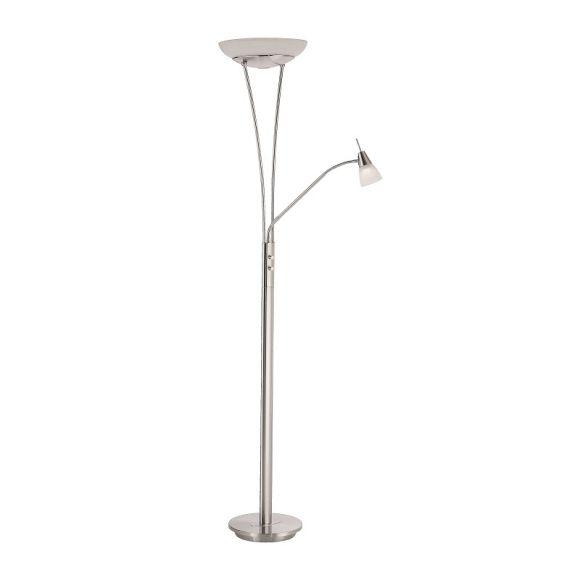 LHG LED-Fluter mit Lesearm in stahl  + LED Taschenlampe