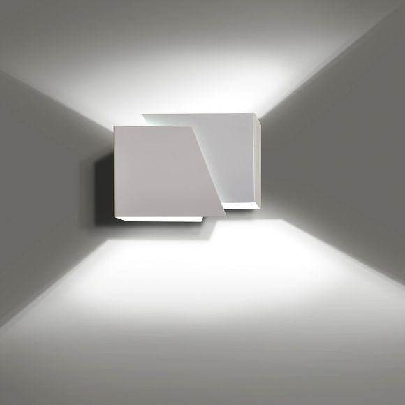 LHG Wandleuchte Double Shine, Up & Down Light, weiß, inkl. LED 5 W