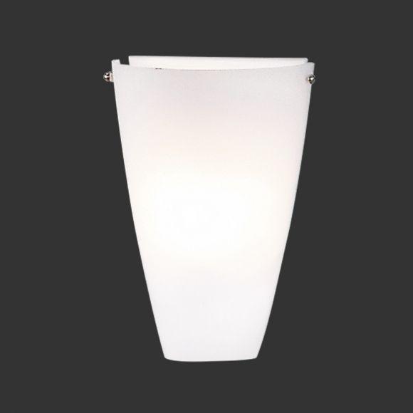 LHG Wandleuchte Glas weiß, inklusive 6W E27 LED