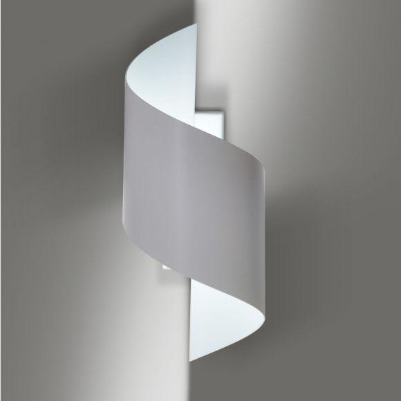 LHG Wandleuchte Helix, weiß, Up & Down Light, Spirale, inkl. LED 5 W