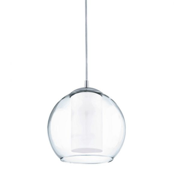 Licht im Glas: Pendelleuchte aus klarem und satiniertem Glas