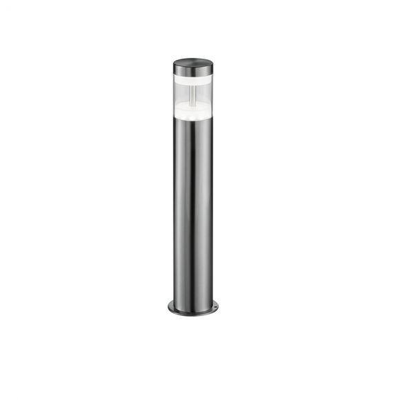 Moderne LED Außen Sockelleuchte - Edelstahl - Kunststoff klar - Höhe 48 cm -  Inklusive LED 7 Watt  450 Lumen  3000 Kelvin