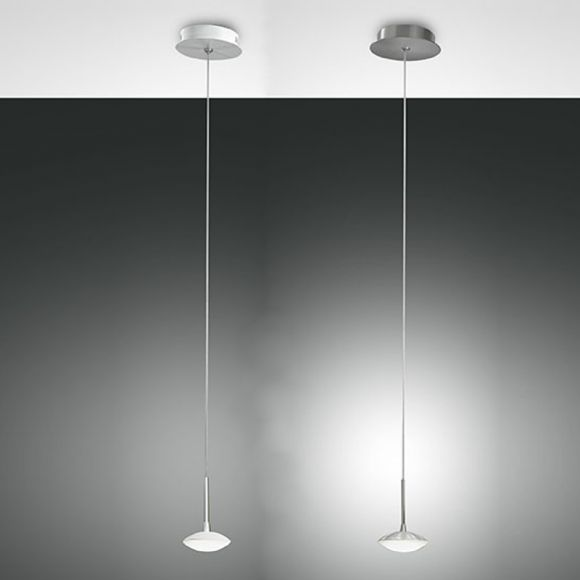 Moderne LED Pendelleuchte - 1-flg - Alu-gebürstet oder Weiß