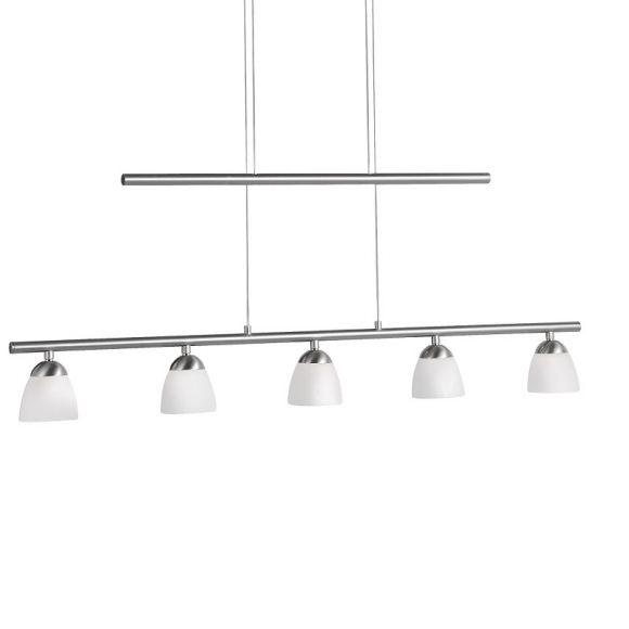 Moderne LED Pendelleuchte - 5-flammig - Höhenverstellbar + LED Taschenlampe