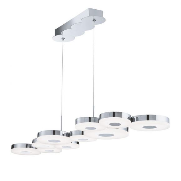 Moderne LED Pendelleuchte - Chrom - Acrylglas - LED 32 Watt