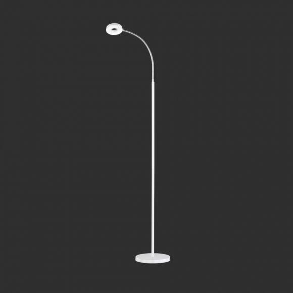 Moderne LED Stehleuchte aus verchromtem Metall - inklusive 1x 4W LED Leuchtmittel - drei Ausführungen