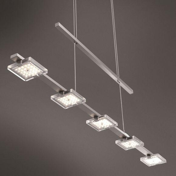 moderne led pendelleuchte 5 flammig h henverstellbar wohnlicht. Black Bedroom Furniture Sets. Home Design Ideas