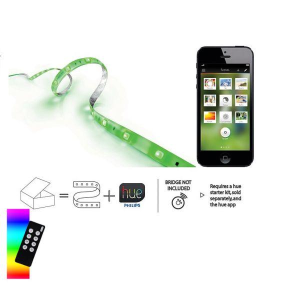Moderne Lichtsteuerung - Mit Philips-HUE - LED-Light Strips Einzelartikel - Mit RGB-Farbwechsel