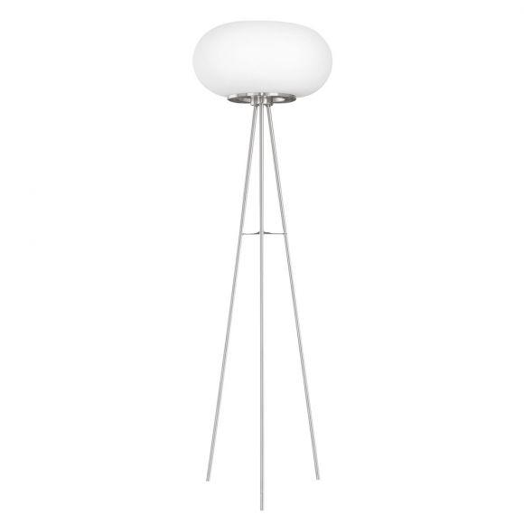 Moderne Stehleuchte aus Opalglas im stilvollen Design