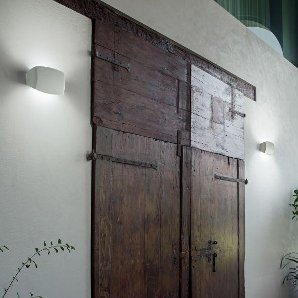 Moderne Wandleuchte Abram  groß weiß - 8,5W
