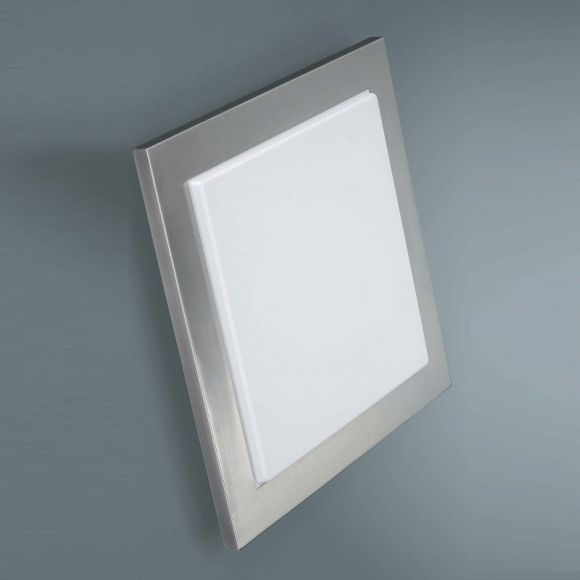 moderne wand oder deckenleuchte in geb rstetem stahl energiesparend wohnlicht. Black Bedroom Furniture Sets. Home Design Ideas