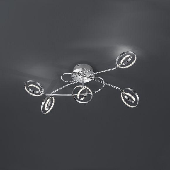 Moderner LED- Deckenstrahler in Chrom - inklusive LED Leuchtmittel - in zwei Größen wählbar