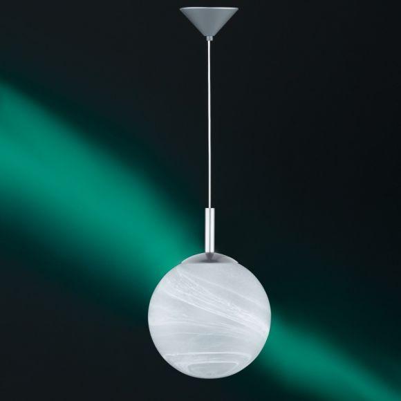 Modernes Leuchtenpendel aus weißem Alabasterglas - in 3 Größen
