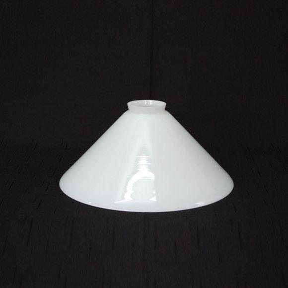 Mundgeblasenes Opalglas in weiß 25 cm