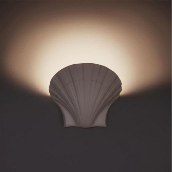 Muschel Leuchte aus Gips,  Ø 36cm