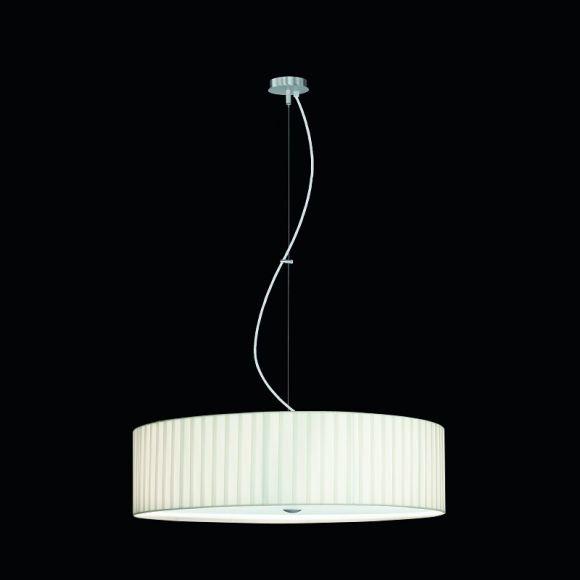 Pendelleuchte Aura mit gewickeltem Chintz-Schirm 55 cm