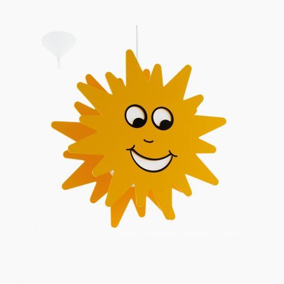 Pendelleuchte für das Kinderzimmer mit gelber Sonne, Ø 38cm