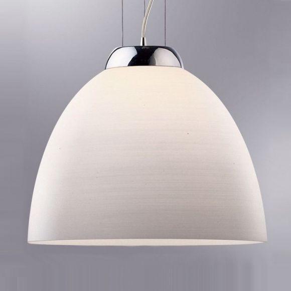 pendelleuchte 40 cm glas gewischt wei wei wohnlicht. Black Bedroom Furniture Sets. Home Design Ideas