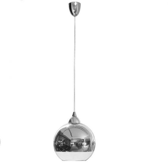 Pendelleuchte Globe chromfarbig - 2 Größen