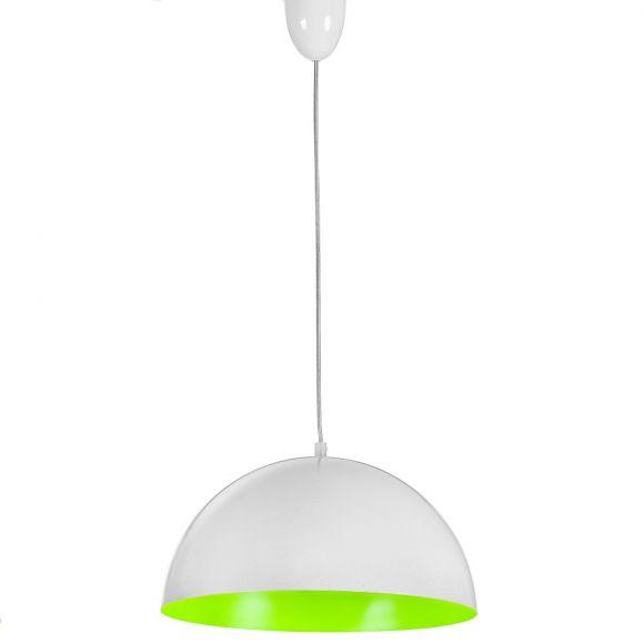 Pendelleuchte Hemisphere Fluo Weiß/Grün - 33,5 cm