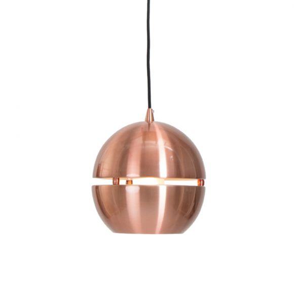 Pendelleuchte in Kupfer mit Lichtstreifen in drei Größen