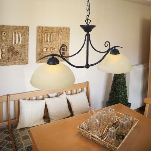 pendelleuchte im landhausstil 2 flammig wohnlicht. Black Bedroom Furniture Sets. Home Design Ideas