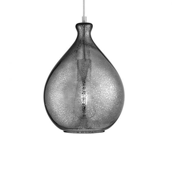 Pendelleuchte Mercury mit Glaslampenschirm