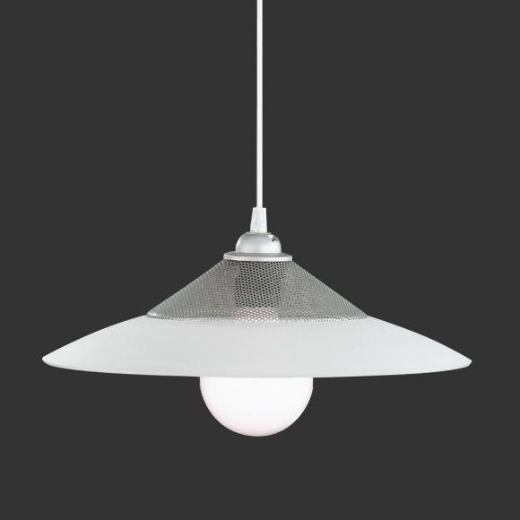 pendelleuchte in rost glas amber oder silber glas wei 35cm wohnlicht. Black Bedroom Furniture Sets. Home Design Ideas